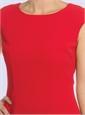 Ladies Cap Sleeve Dress in Cornelian Red