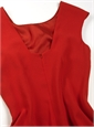 Ladies Cap Sleeve Dress in Cornelian Red