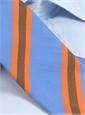 Mogador Silk Stripe Tie in Cobalt