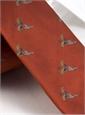 Silk Woven Pheasant in Flight Tie in Henna