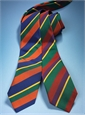 Mogador Silk Stripe Tie in Terracotta, Forest, and Purple