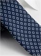 Silk Diamond Motif Tie in Navy