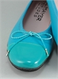 Patent Tip Flats in Turquoise