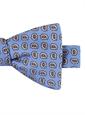 Silk Paisley Bow Tie in Sky