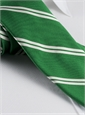 Mogador Silk Double Bar Stripe Tie in Grass