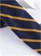 Mogador Bar Stripe Tie in Navy and Gold