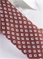Silk Diamond Motif Tie in Rust