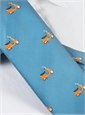 Jacquard Woven Scooter Tie in Sky