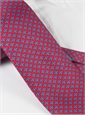Silk Fleur De Lis Printed Tie in Red