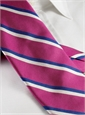 Woven Double Stripe Tie in Azalea