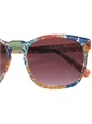 Liberty Sunglasses in Red, Green, Blue, and Coral Floral Print