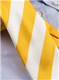 Gold and White Block Stripe Tie
