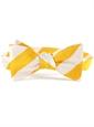 Gold and White Block Stripe Tie