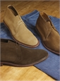 The Alden Chukka Boot in Tan Suede