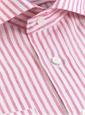 Pink Candy Stripe Cutaway Collar in Linen