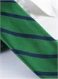 Mogador Bar Stripe Tie in Kelly and Navy