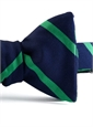 Mogador Silk Bar Stripe Bow in Navy with Kelly