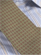 Silk Print Dot Motif Tie in Olive