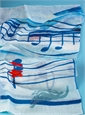 Linen Musical Scarf in Sky