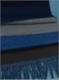 Wool and Alpaca Block Stripe Scarf in Fuchsia and Blue