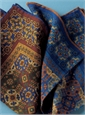 Wool and Silk Tapestry Motif Pocket Squares