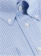 Blue & White Small Grid Check Button Down