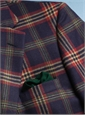 Navy Lambswool Sport Coat with Large Plaid in Hedge, Cranberry, and Beige