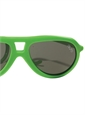 Children's Aviator Rubber Sunglass in Apple Green