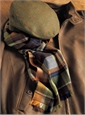 Cashmere Autumnal Madras Check Scarf