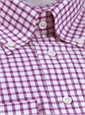 Fuchsia Grid Check Button Down