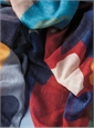 Ladies Wool and Cashmere Abstract Hearts Printed Scarf
