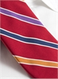 Silk and Cotton Stripe Tie in Red
