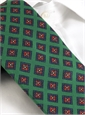 Mogador Silk Diamond Print Tie in Celtic