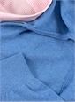 Cashmere Half-Zip Hoodie Sweater in Sky