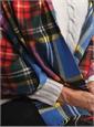 Cashmere Modern Stewart Stole in Cobalt