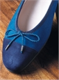 Ladies Suede Flats in Marine