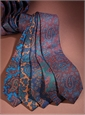 Silk Print Paisley Tie in Copper