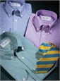S16- Gold and Teal Classic Stripe Tie for Boys