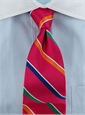 Woven Multi Stripe Tie in Pink