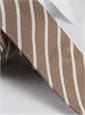 Mogador Bar Stripe Tie in Mocha