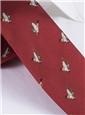 Silk Woven Mallard Motif Tie in Brick