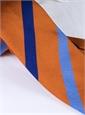 Silk Multi Stripe Tie in Tangerine