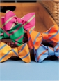 Mogador Bar Stripe Bow in Azalea
