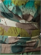 Marie Meunier Reversible Silk Wrap-top in Hazel and Green