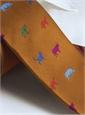 Silk Woven Animal Motif Tie in Copper