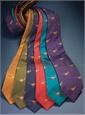 Silk Woven Pheasant Motif Tie in Olive