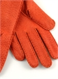 Orange Peccary Unlined Gloves