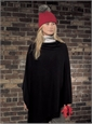 Ladies Cashmere and Fur Cable Knit Hat