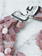 Dark Pink Mother of Pearl Necklace
