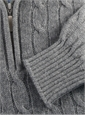 Cashmere Half Zip Cable-Knit Sweater in Earl Grey